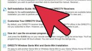 How to set up DirecTV satellite receiver?