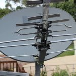 Satellite dish for TV reception